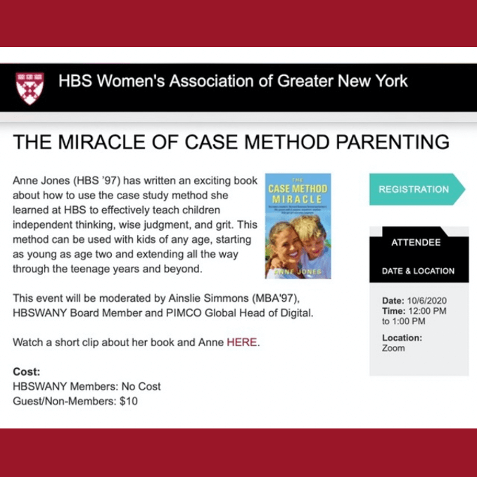 October 6th - The Miracle of Case Method Parenting